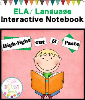 ELA Interactive Notebook Language