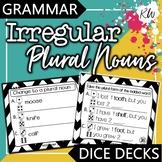 Irregular Plural Nouns Interactive Task Cards - Grammar