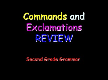 Grammar Lesson 8: Commands and Exclamations Review