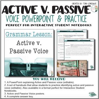 Grammar Lesson:  Active and Passive Voice