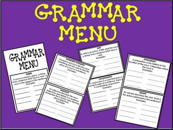 Grammar Menu