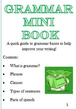 Grammar Mini Book