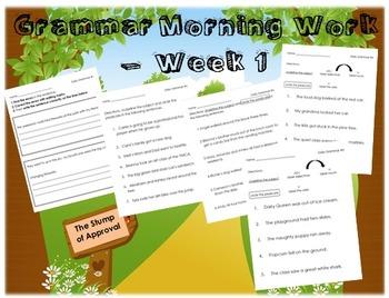 Grammar Morning Work - Week 1