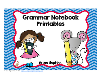 Grammar Notebook No Prep