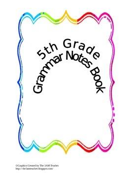 Grammar Notes Book 5th Grade