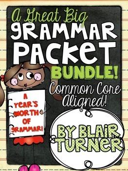Grammar Packet BUNDLE {A Year's Worth of Grammar!}