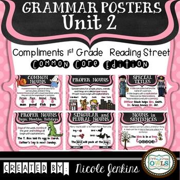 Grammar Posters Reading Street Common Core Edition Unit 2