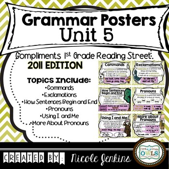 Grammar Posters Reading Street Unit 5 - 2011 Version