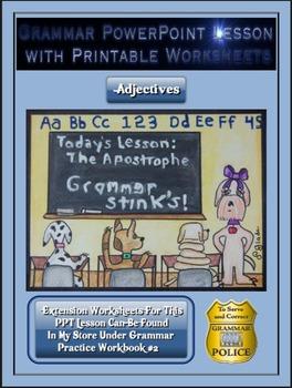 Grammar PowerPoint & Handouts - Adjectives