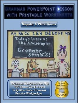 Grammar PowerPoint & Handouts - Singular & Plural Nouns