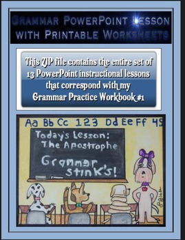 Grammar PowerPoints & Handouts-Complete Set of PPTs for Gr