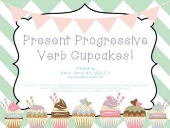 Grammar: Present Progressive Verb Game Cards
