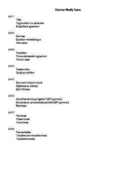 Grammar Program: Unit 2