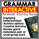 Grammar Races: Interactive Notebook Writing Activities (Editable)
