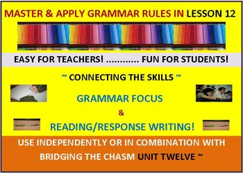 CCSS: Grammar & Response Writing-12: With Short Story Midd