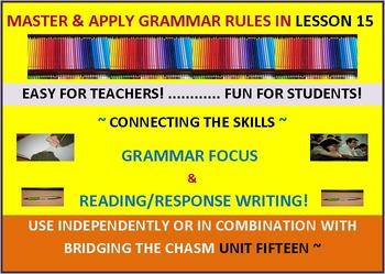 CCSS: Grammar & Response Writing-15: With short story, Kil