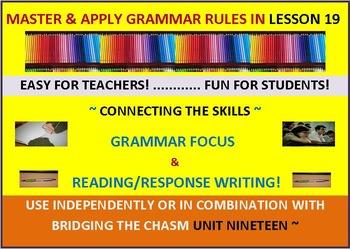 CCSS: Grammar & Response Writing-19: With Original short s