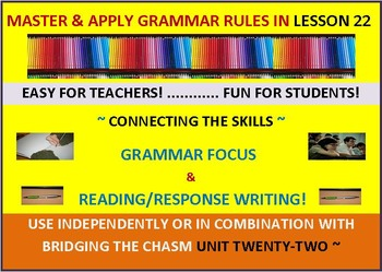 CCSS:Grammar & Response Writing-22: With story, Trust Me -