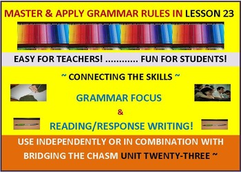 CCSS: Grammar & Response Writing-23 With the story, The Ti
