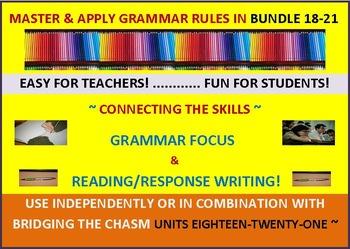 CCSS: Grammar & Response Writing BUNDLE 18-21 All with ori