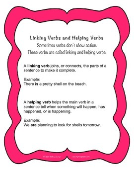 Grammar Review - Helping Verbs and Linking Verbs