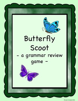 Grammar Review Scoot (Butterfly)