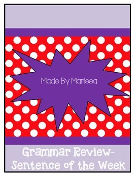 Grammar Review -Sentences and Finding Parts of Speech