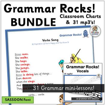 Grammar Rocks! BUNDLE | Sassoon Font