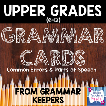 Grammar Rules Wall Cards/Anchor Charts for Middle School o