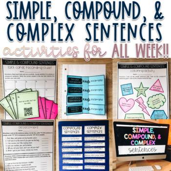 Grammar - Simple, Compound, Complex Sentences Activities -