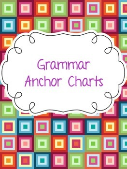 Grammar Skills Anchor Chart Pack