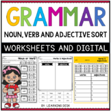 Grammar Review - Parts of Speech Cut and Paste Worksheets