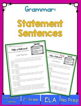 Grammar: Statement Sentences