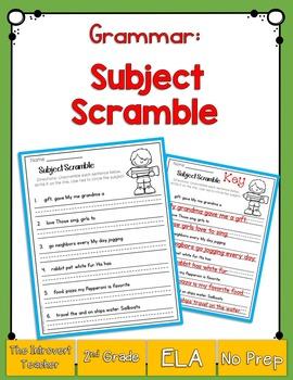 Grammar: Subject Scramble