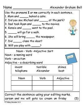 Grammar Test Alexander Graham Bell (Scott Foresman Reading