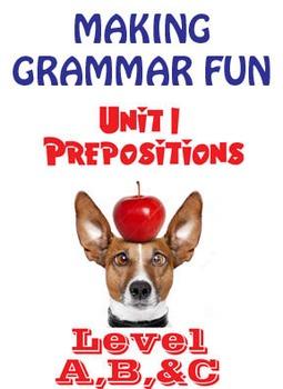 Grammar Unit 1 - Prepositions (3 Levels) ** Complete Units