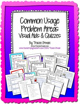 No Prep Grammar Usage Visual Aids, Quizzes, and Activities