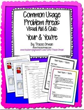 Grammar Usage: Your & You're No Prep Quiz & Anchor Chart