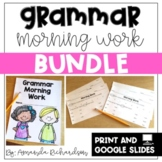 First Grade Morning Work-Grammar
