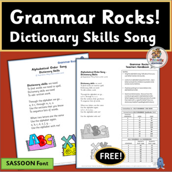 Learn Grammar with this Dictionary Song! | Sassoon Font