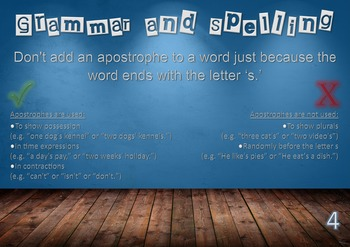 Grammar and Spelling Posters