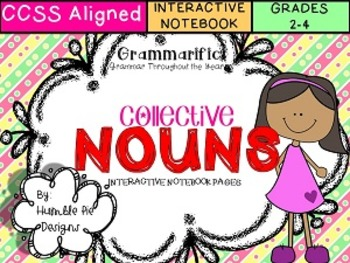 Grammarific: Collective Nouns Interactive Notebook Pages