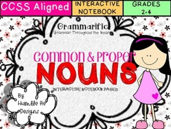 Grammarific: Common and Proper Nouns Interactive Notebook Pages