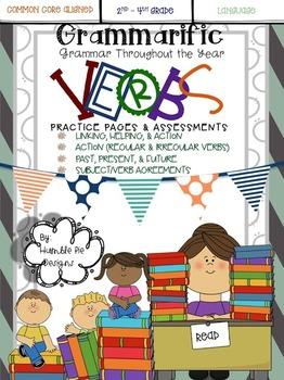 Grammarific: Verbs Bundle - Practice Pages & Assessments