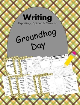 Groundhog Day Writing-Informative Opinion Narrative CCSS