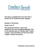 Grandma's Records Quiz
