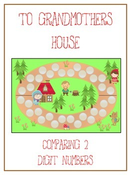Grandmother's House Math Folder Game - Common Core - Compa