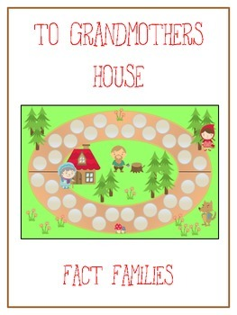 Grandmother's House Math Folder Game - Common Core - Fact