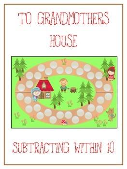 Grandmother's House Math Folder Game - Common Core - Subtr