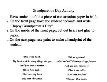 Grandparent's Day Activity